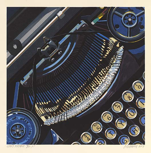 Lynn's Portable (2004) by Robert Cottingham. Image courtesy of the American Art Museum.