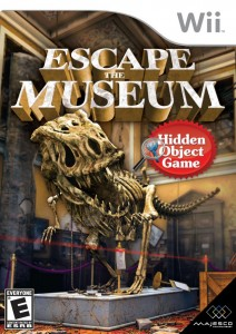 "In ""Escape the Museum"" by Majesco Entertainment, a curator tries to save museum artifacts after an earthquake."