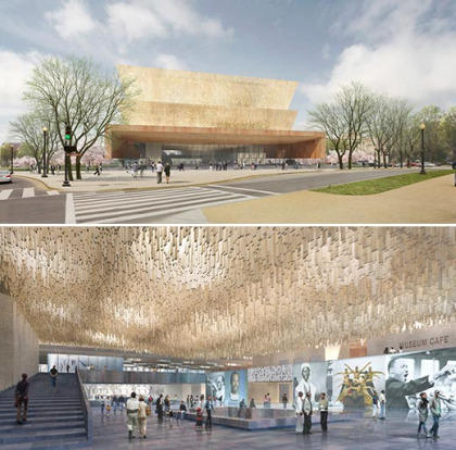 Winning design for National Museum of African American History and Culture, courtesy of Freelon Adjaye Bond/SmithGroup