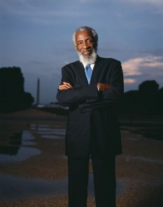 Dick Gregory will speak tomorrow at the Folklife Festival. Photo by Michael Bowles. Image courtesy of the Smithsonian Institution.