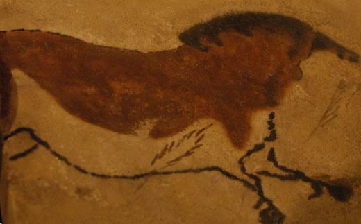 "The ""yellow horse,"" drawn on the cave ceiling in Lascux, France between 15,000-13,5000 BC, is one of the drawings that will appear on the cave."