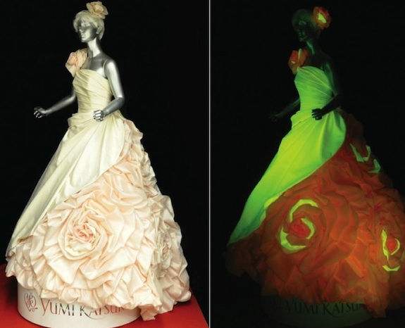 Plan a Psychedelic Wedding with Glowing Dresses Made from Material ...