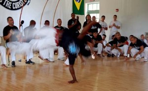 Capoeira is classified as an Afro-Brazilian martial arts, developed in Brazil about in the 1600s. Photograph courtesy of tk