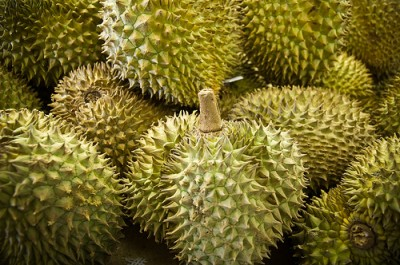 Durian fruits, courtesy Flickr user wenzday01