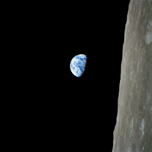 The view from the Apollo 8 CSM, Christmas 1968
