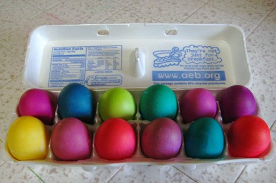 Dyed Easter eggs, courtesy of Flickr user DarkFokus