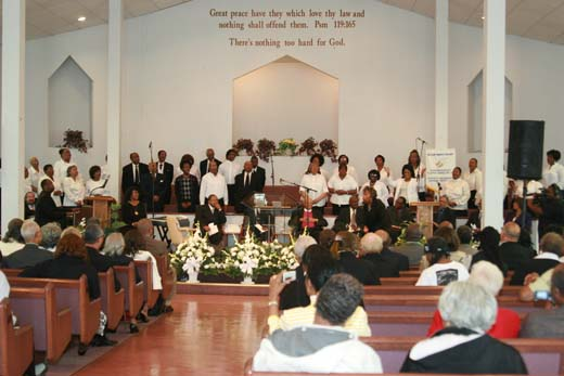The donation ceremony took place at a memorial service at the Roberts Temple Church of God in Christ, the site of Emmett Till's funeral in 1955. Image courtesy of the National Museum of African American History and Culture