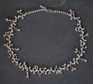 Silver endorphin necklace (courtesy of Raven Hanna, Made With Molecules)