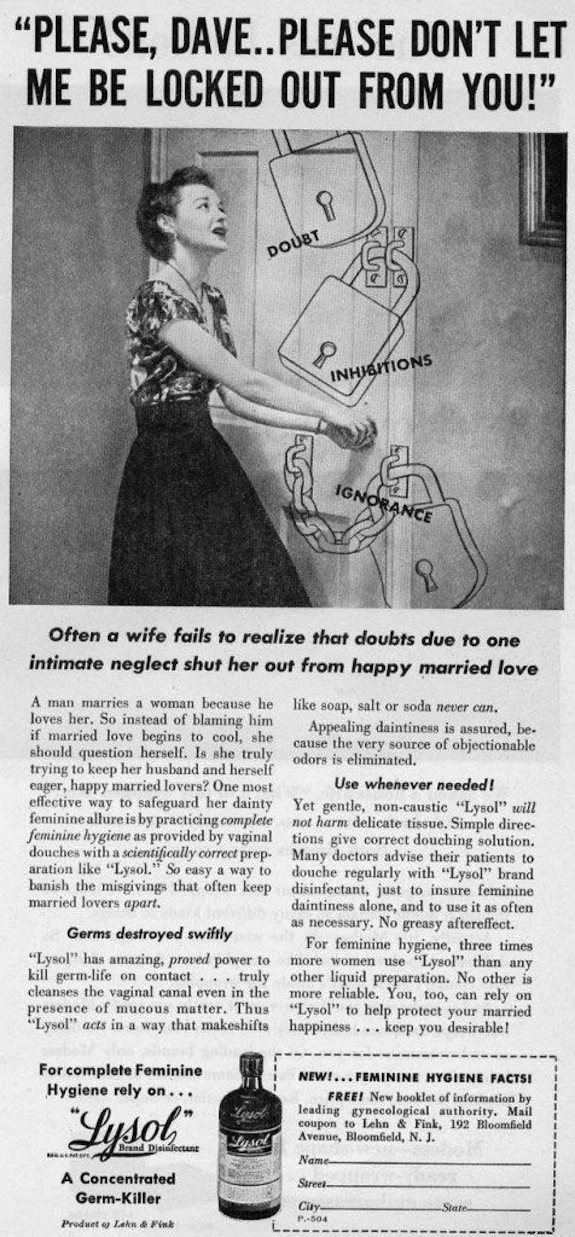 Lysol's Vintage Ads Subtly Pushed Women to Use Its