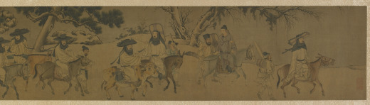 Seven Scholars Going through the Pass, attributed to Li Tang, at Freer Gallery of Art