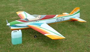 A typical F3A radio controlled airplane