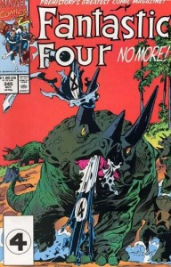 The cover of Fantastic Four #345. From Cover Browser.