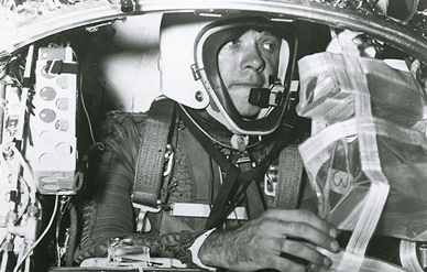 Simons prior to the second Manhigh flight in August 1957. (Photo: USAF)