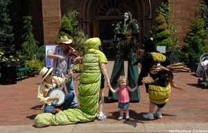 Garden Fest, tips for green thumbs, on Saturday, June 13, 10-4 PM in the Enid a. Haupt Garden