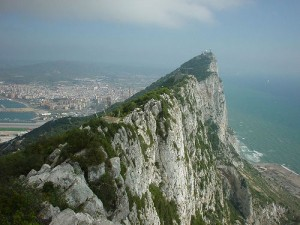 The rock of Gibraltar (courtesy of flickr user James Cridland)