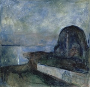Edvard Munch's Starry Night, 1893 (credit: The J. Paul Getty Museum, Los Angeles)