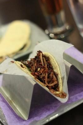 Grasshopper taco at Oyamel, courtesy Flickr user stgermh