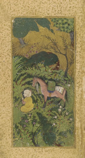 "Based on the short story ""In a Grove,"" the movie Rashomon tells the story of a murder in the woods from four different—and contradictory—perspectives. Waiting groom with  horse in wooded grover (ca. 1500). Image courtesy of the Freer Gallery of Art and Arthur M. Sackler Gallery."
