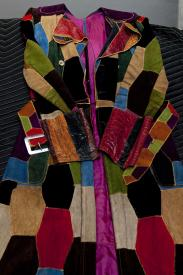 Jimi Hendrex' coat is among a number of personal items loaned to the National Museum of the American Indian. Image courtesy of the museum