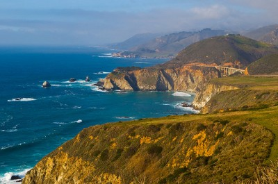 Highway 1 and the California coastline, courtesy of Flickr user Anthony Woo (woohoo!)