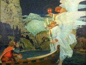 The Knight of the Holy Grail (ca. 1912) by Frederick J. Waugh