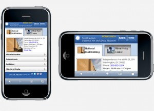 Accelerometers in iPhones can sense how to orient your display. Photo courtesy of the AirSpace blog.