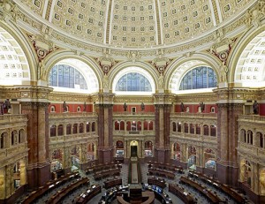 The Library of Congress' Main Reading Room (Credit: Highsmith, Carol M./Library of Congress)