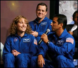 NASA's Educator Astronauts: Mr. Arnold (top), Mr. Acaba, and Mrs. (Dottie) Metcalf-Lindenburger