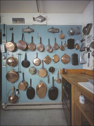 Julia Childs Copper Pots And Pans As They Looked In Her Kitchen Cambridge Machusetts