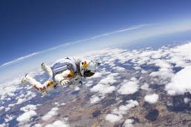 Baumgartner making a test hop (Photo: Red Bull)