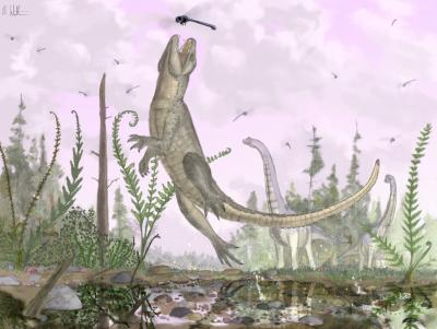 Pakasuchus kapilimai lived about 100 million years ago in Africa (Credit: Mark Witton, University of Portsmouth)