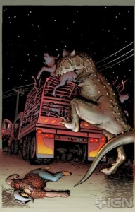 Artwork from the forthcoming Jurassic Park: Redemption series.