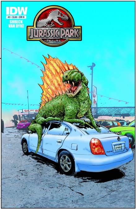 The cover of Jurassic Park: Redemption issue three.