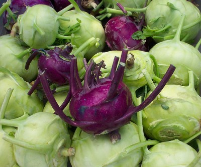 Kohlrabi, courtesy Flickr user Lawrence Farmers Market