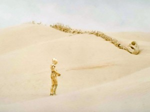 A screenshot from Star Wars, Episode IV