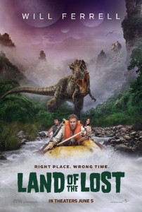 The movie poster for Land of the Lost, starring Will Ferrell