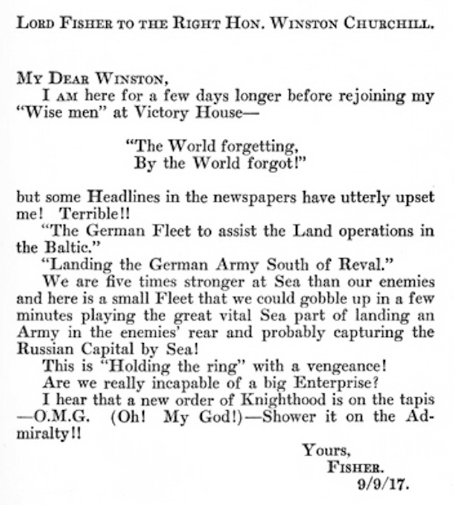 The First Use of OMG Was in a 1917 Letter to Winston Churchill
