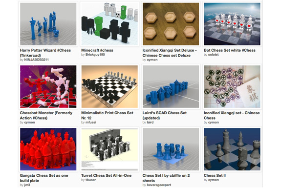 3D printed chess sets