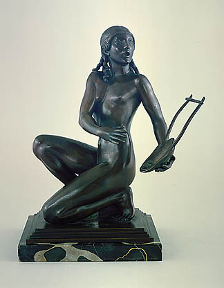 Get in touch with your muse in this week's online poetry workshop. Lyric Muse (1912) by Paul Manship. Image courtesy of the American Art Museum.