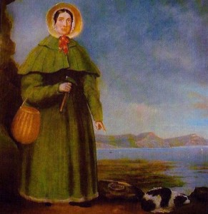 A portrait of Mary Anning. From Wikimedia Commons.