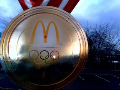 McDonald's logo at 2010 Winter Olympics, courtesy Flickr user Roland