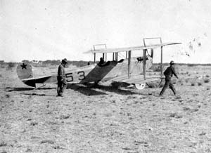Getting ready to take off on a scouting mission, Mexico, 1916