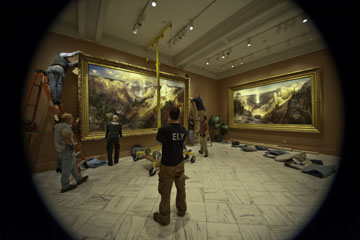 The team assembling the gigantic masterpiece at the Renwick Gallery. Photo courtesy of the Renwick Gallery.
