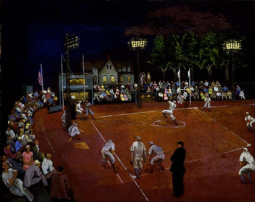 """Baseball at Night,"" Morris Kantor, 1934"