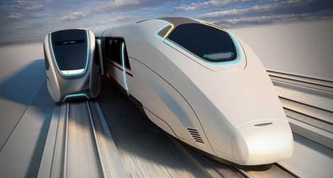 This High-Speed Train Picks Up Passengers Without Having to Stop