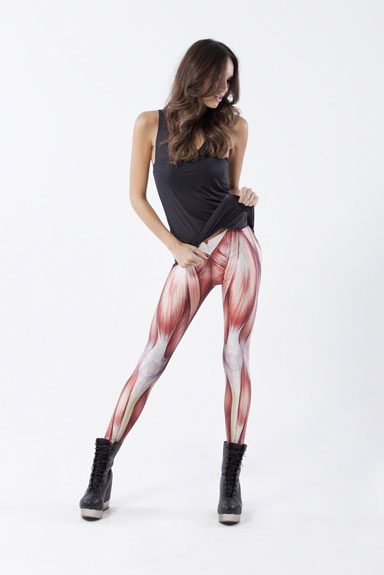 Leggings with muscle print