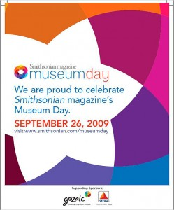 Museum Day is Saturday, September 26
