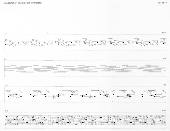 The graphic notation for Music for Airports