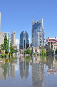 One of the less intuitive consequences of climate change is flooding (Nashville in May; photo courtesy of flickr user NashvilleCorps)