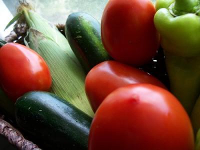 Summer vegetables, courtesy Flickr user newwavegurly